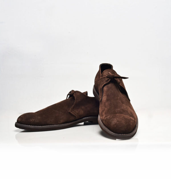 Brown Swede Derby Shoes (Upper Culture)