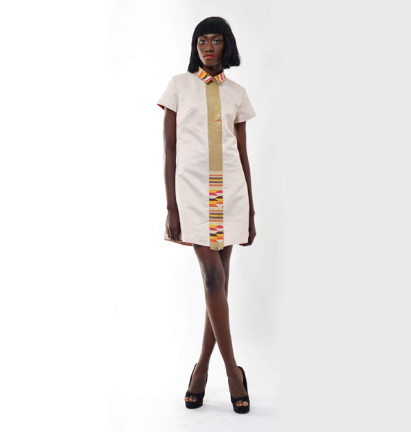 Totally Ethnik Satin and Kente Dress